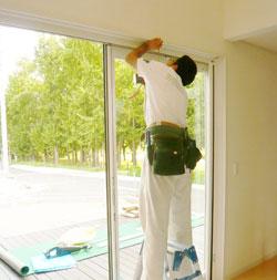 カーテン取り付け・施工時のイメージ